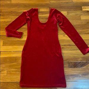 Red Velvet Mini Dress Sz M
